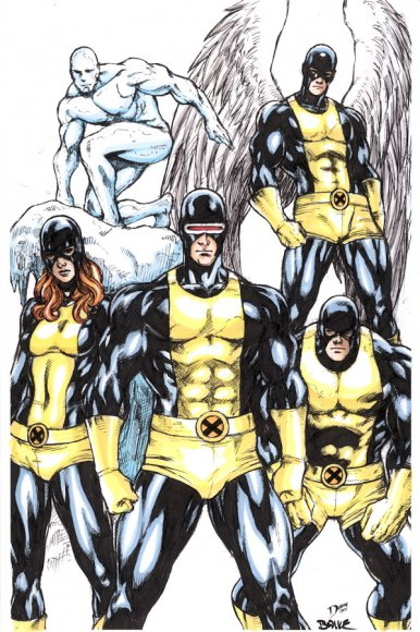 Marvel Girl (Jean Grey), Cyclops, Iceman, Angel and Beast