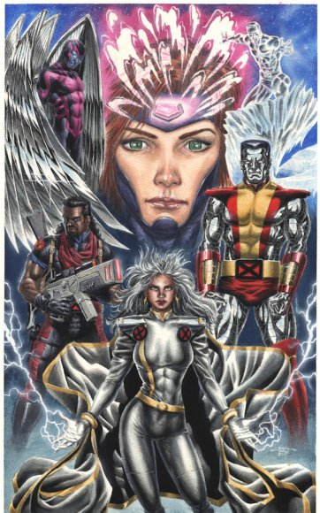 X-Men - Jean Grey, Storm, Archangel, Colossus, Bishop, Iceman