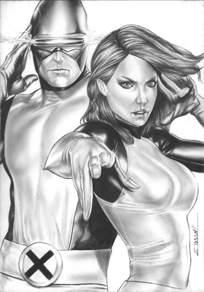 Marvel Girl (Jean Grey) & Cyclops (Scott Summers)