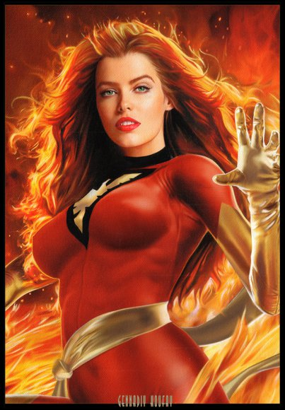 Phoenix (Jean Grey) (close-up)