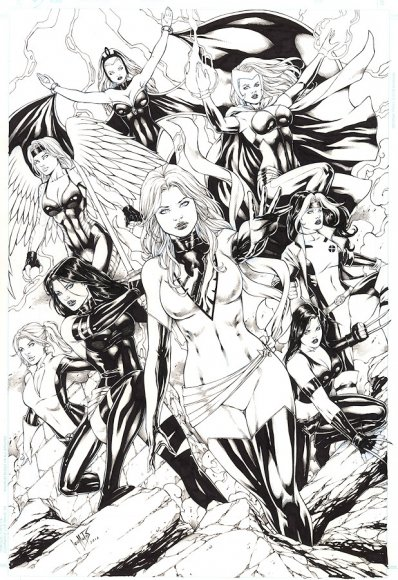 Phoenix (Jean Grey), Storm, Rogue, Kitty Pryde, Psylocke, X-23, Scarlet Witch, Lifeguard