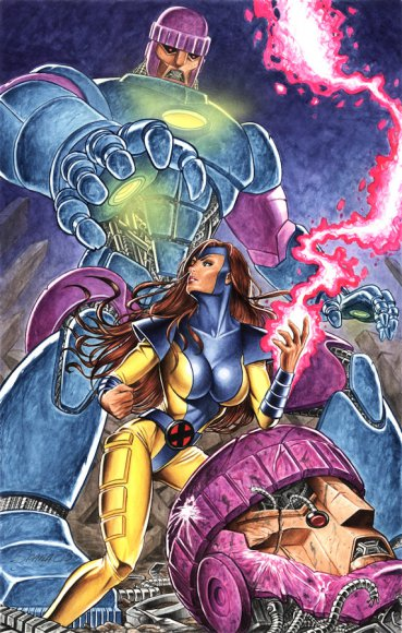 Jean Grey vs Sentinels