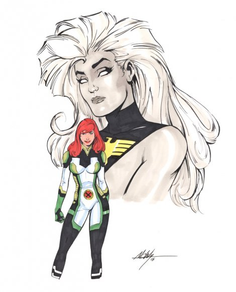 Young Jean Grey and Phoenix