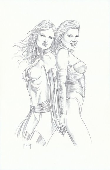 Phoenix (Jean Grey) and White Queen (Emma Frost)
